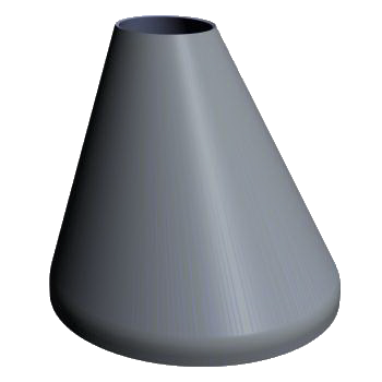 Flanged Eccentric Skew Cone